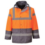 Jakna-S467-TwoTone-Traffic-orange-siva